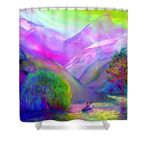 Love Is Following The Flow Together Shower Curtain