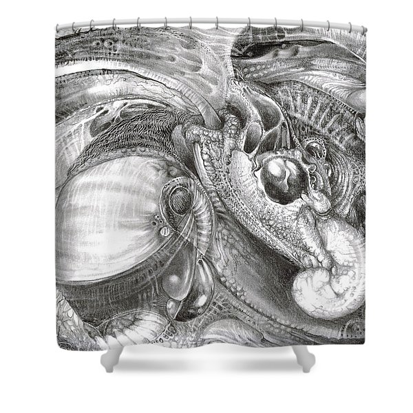 Fomorii Aliens Shower Curtain