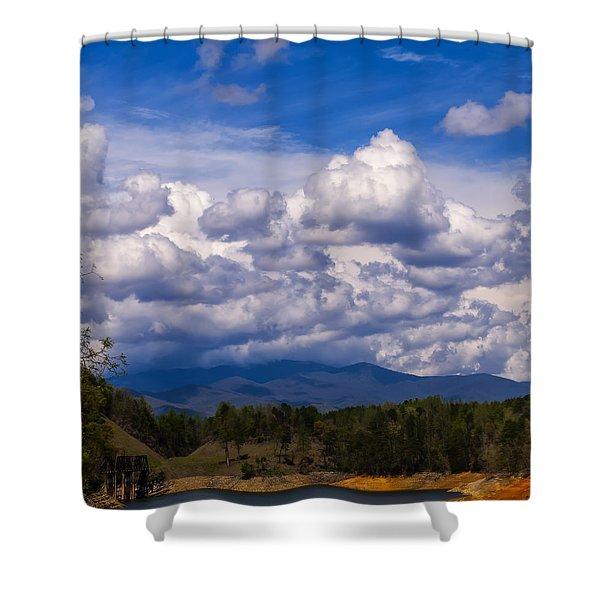 Fontana Lake Storm 2 Shower Curtain