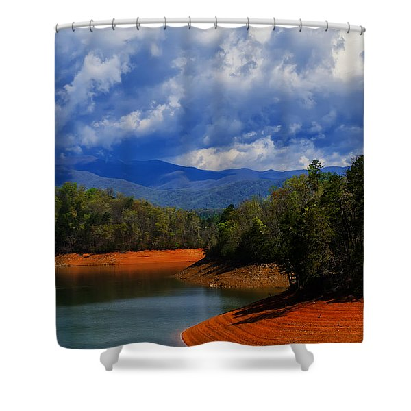 Fontana Lake Storm Shower Curtain