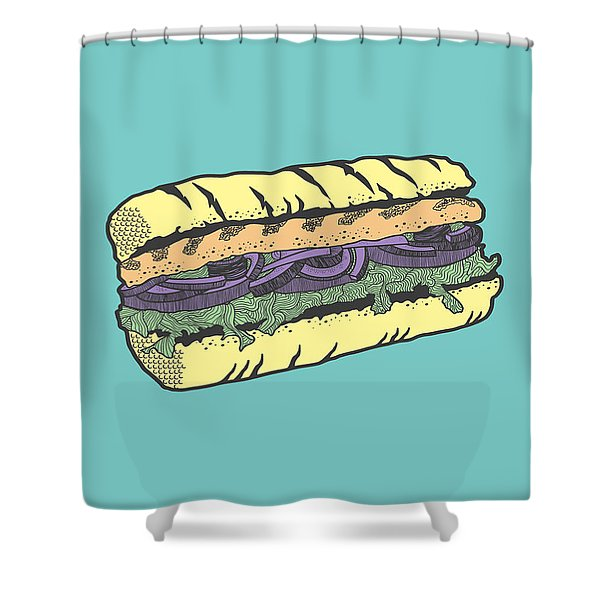 Food Masquerade Shower Curtain