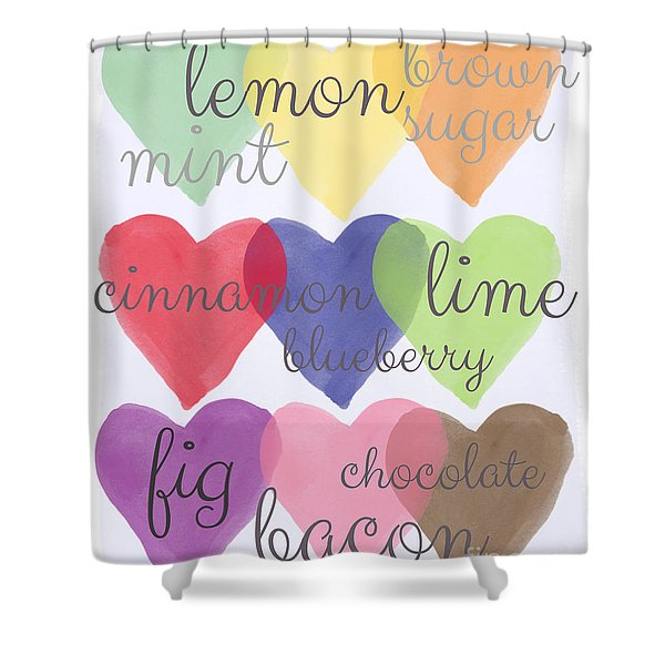 Foodie Love Shower Curtain