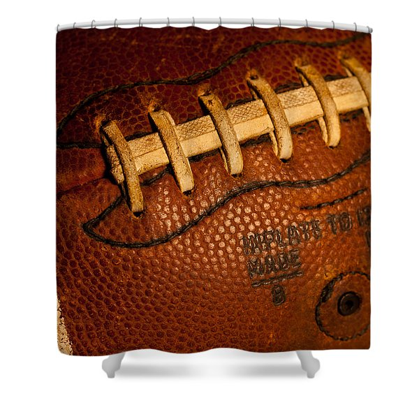 Football Laces Shower Curtain