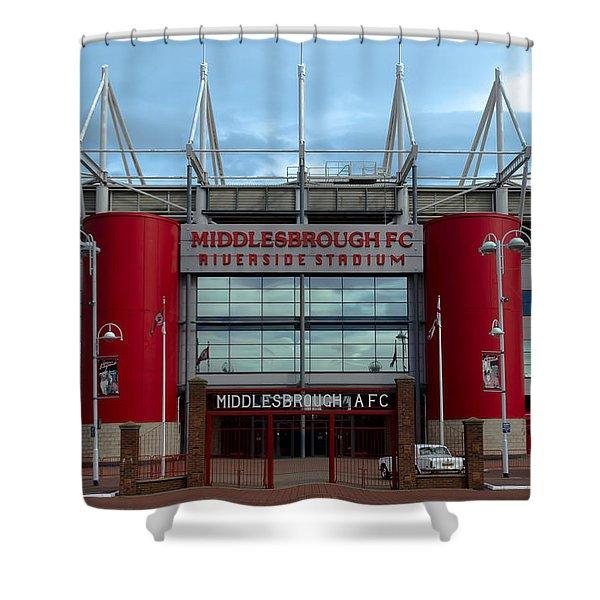 Football Stadium - Middlesbrough Shower Curtain