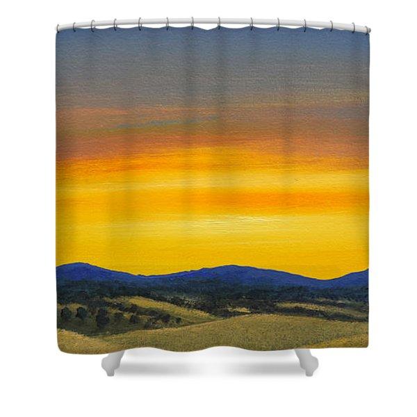 Foothills Sunrise Shower Curtain