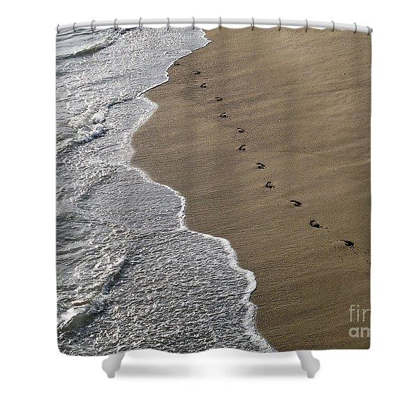Footprints Shower Curtain