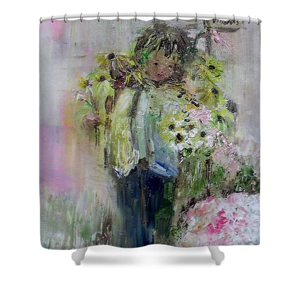 Shower Curtain featuring the painting For My Mother by Laurie Lundquist