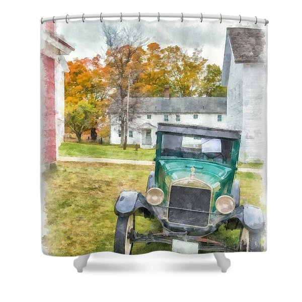 Ford Model A Sedan Shower Curtain