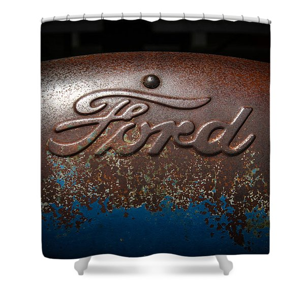 Ford Tractor Logo Shower Curtain