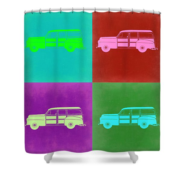 Ford Woody Pop Art  Shower Curtain