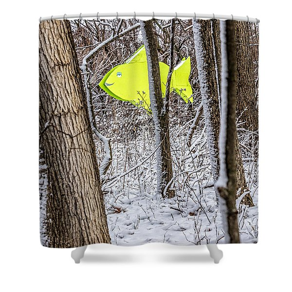 Forest Fish Shower Curtain