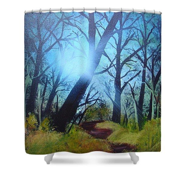 Forest Sunlight Shower Curtain