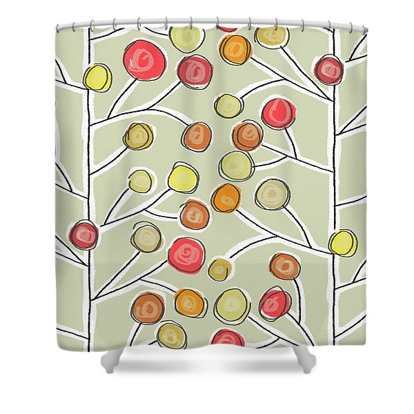 Forever Trees Natural Shower Curtain