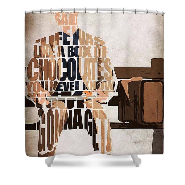 Forrest Gump - Tom Hanks Shower Curtain