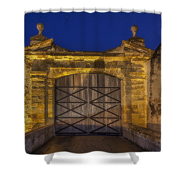 Shower Curtain featuring the photograph Fort Castillo San Cristobal Inpuerto Rico by Bryan Mullennix