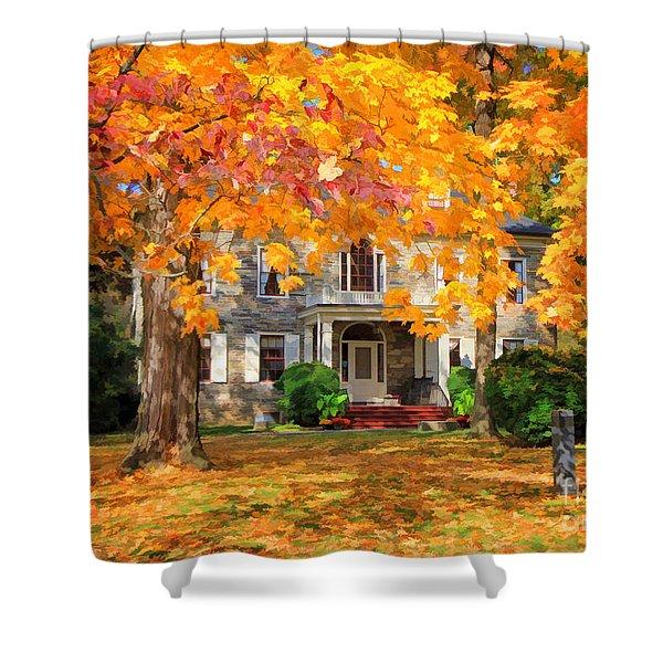 Fort Hunter Autumn Shower Curtain
