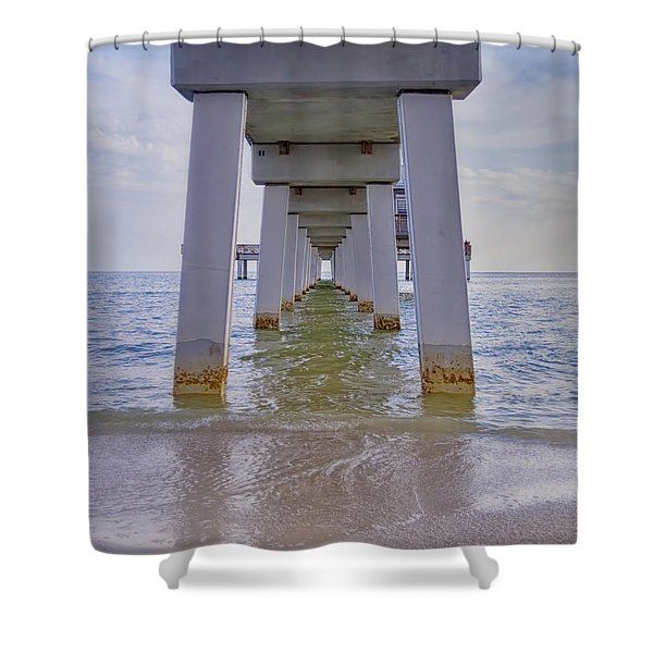 Fort Myers Beach Pier Shower Curtain
