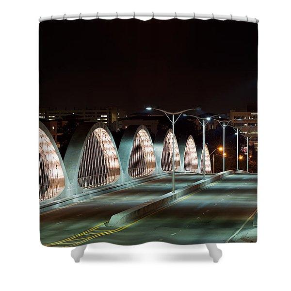 Fort Worth Seventh Street Bridge Oct 10 2014 Shower Curtain