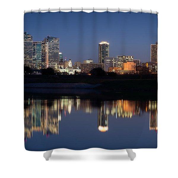 Fort Worth Skyline 020915 Shower Curtain