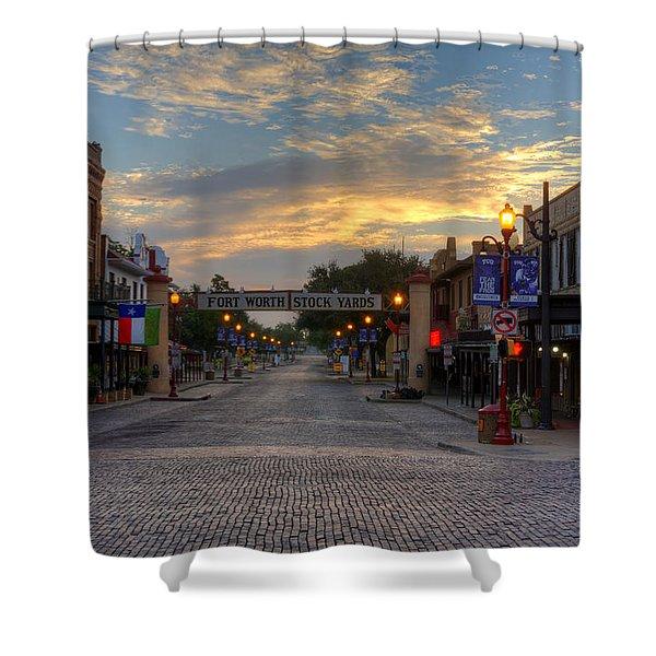 Fort Worth Stockyards Sunrise Shower Curtain