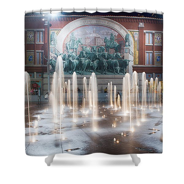 Fort Worth Sundance Square Aug 2014 Shower Curtain