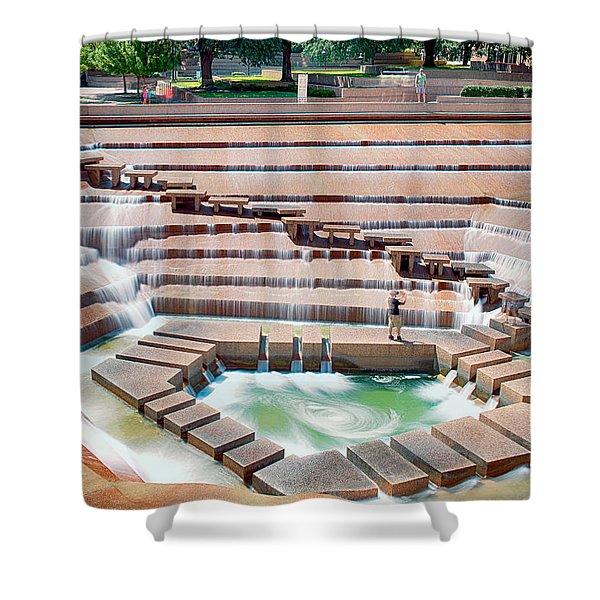 Fort Worth Water Garden V7 Shower Curtain