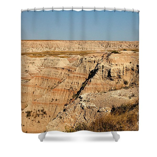 Fossil Exhibit Trail Badlands National Park Shower Curtain