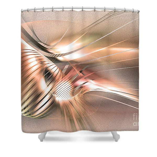 Found By Nile - Abstract Art Shower Curtain