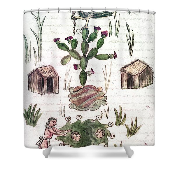 Founding Of Tenochtitlan Shower Curtain