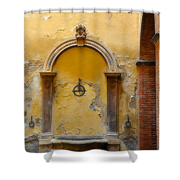 Fountain In Sienna Shower Curtain