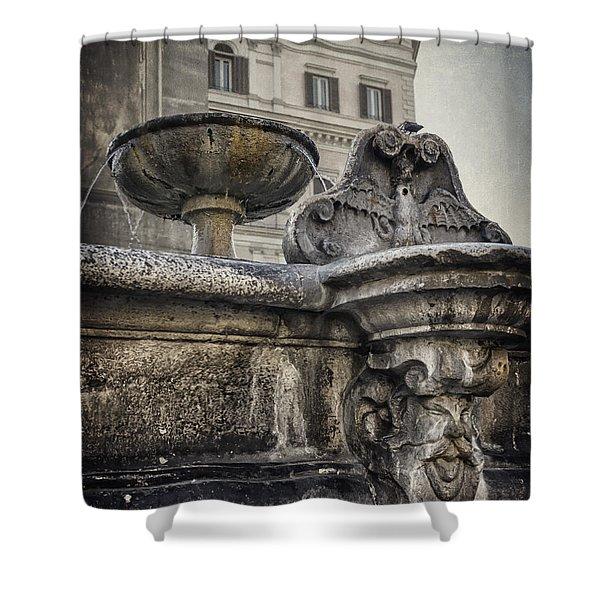 Fountain Of Santa Maria Maggiore Shower Curtain
