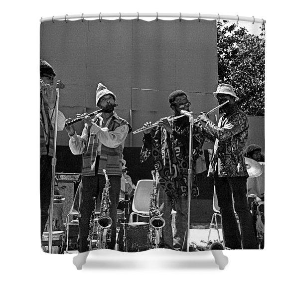 Four Flutes 2 Shower Curtain