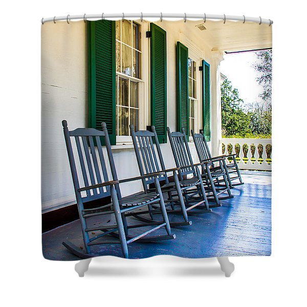 Four Porch Rockers Shower Curtain