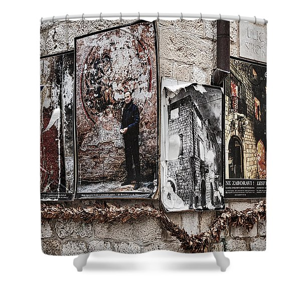Four Posters Shower Curtain