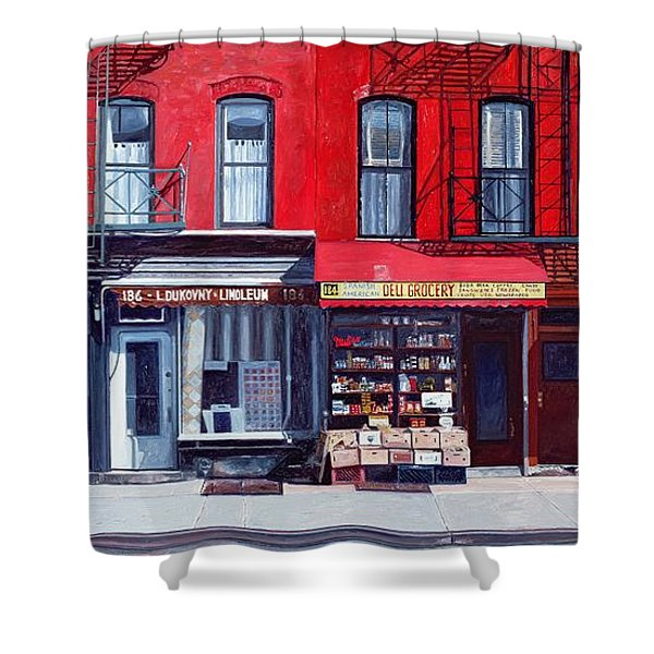 Four Shops On 11th Ave Shower Curtain
