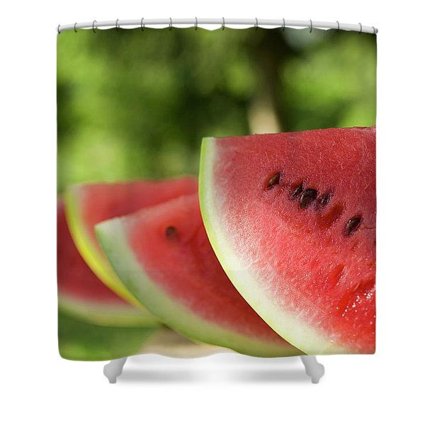 Four Slices Of Watermelon Shower Curtain