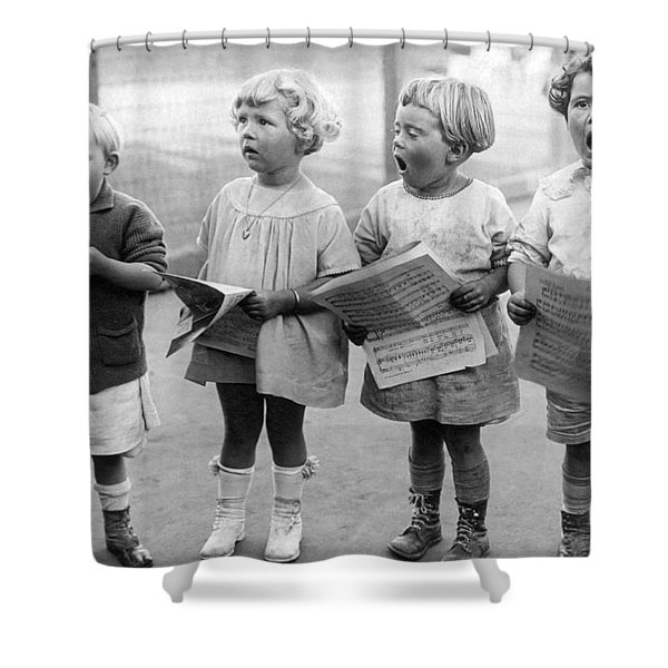Four Young Children Singing Shower Curtain