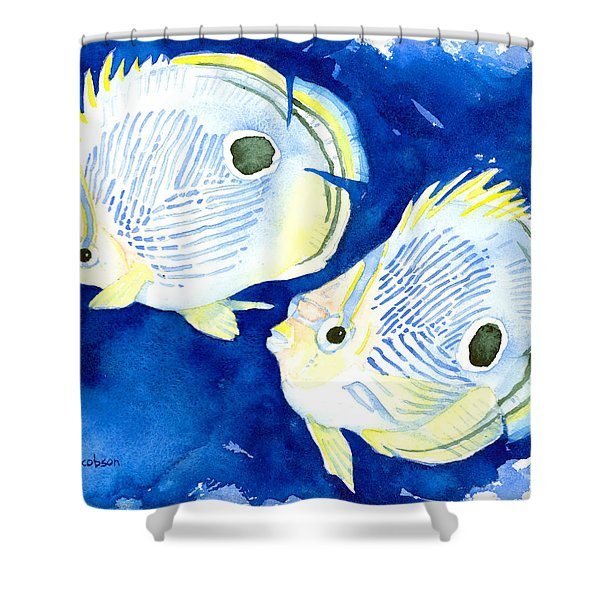 Foureye Butterflyfish Shower Curtain