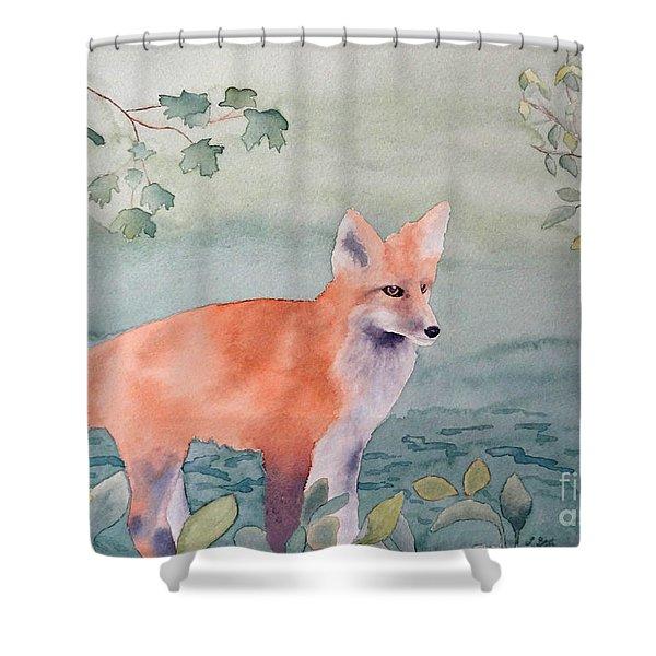 Fox And Birch Shower Curtain