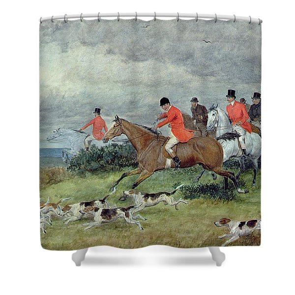 Fox Hunting In Surrey Shower Curtain