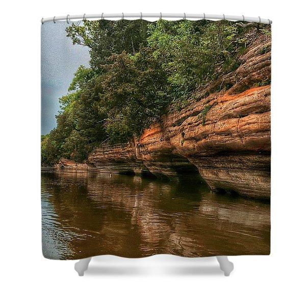 Fox River Sandstone Cliffs Shower Curtain