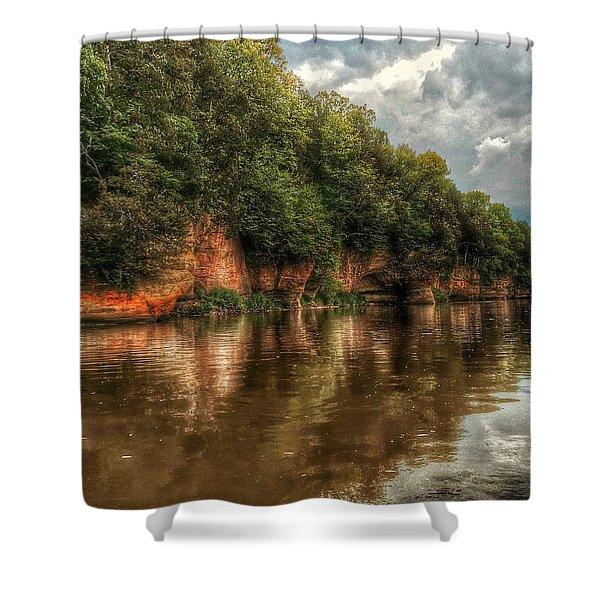 Fox River Shoreline Shower Curtain