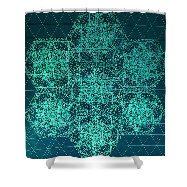 Fractal Interference Shower Curtain