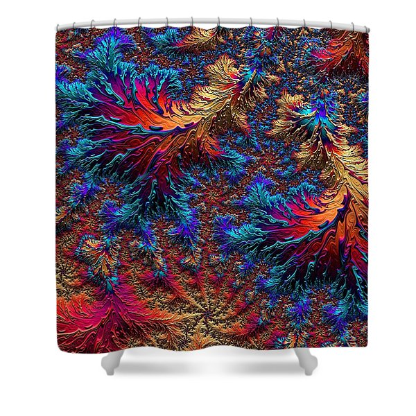 Fractal Jewels Series - Beauty On Fire II Shower Curtain