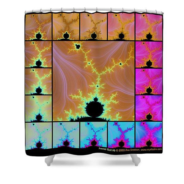 Fractal Quilt 6  Shower Curtain