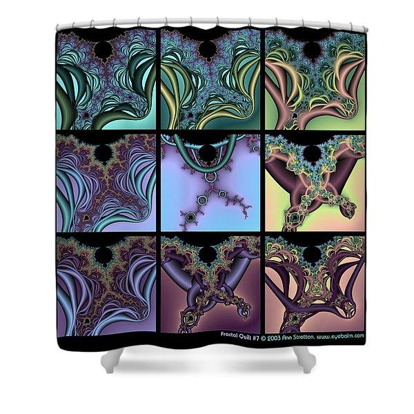 Fractal Quilt 7 Shower Curtain