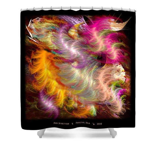 Fractal Silk Shower Curtain