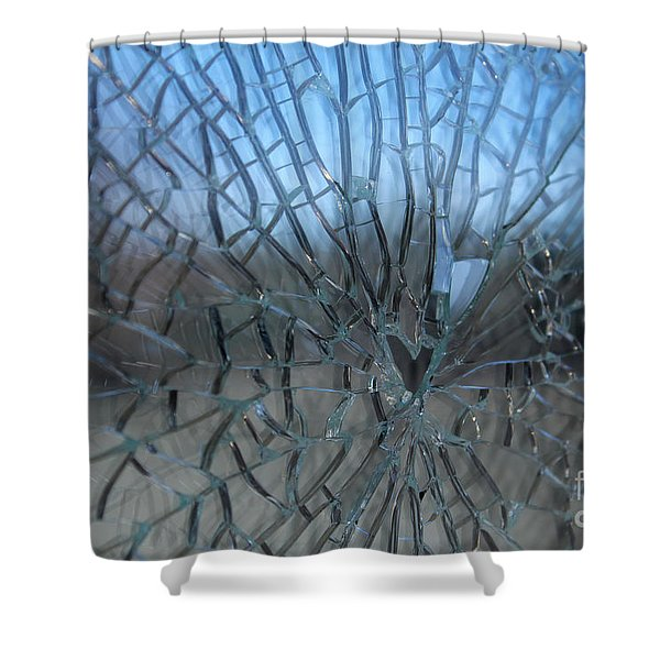 Fractured Heart Shower Curtain