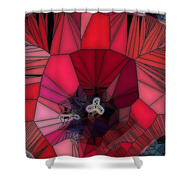 Fragile Flower Shower Curtain