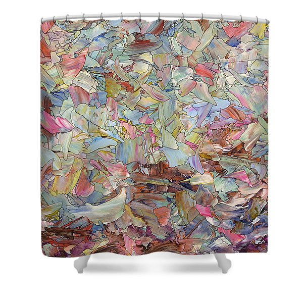 Fragmented Hill Shower Curtain